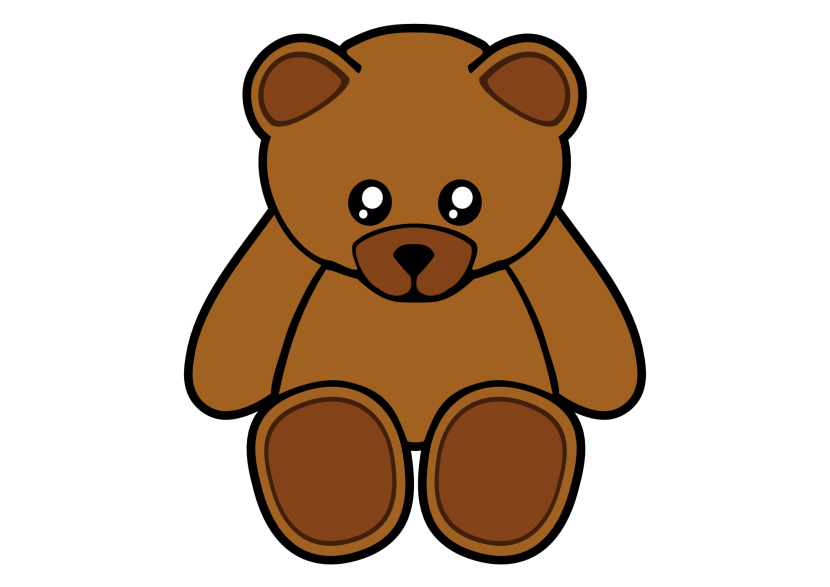 Teddy Bear Outline Clipart Free
