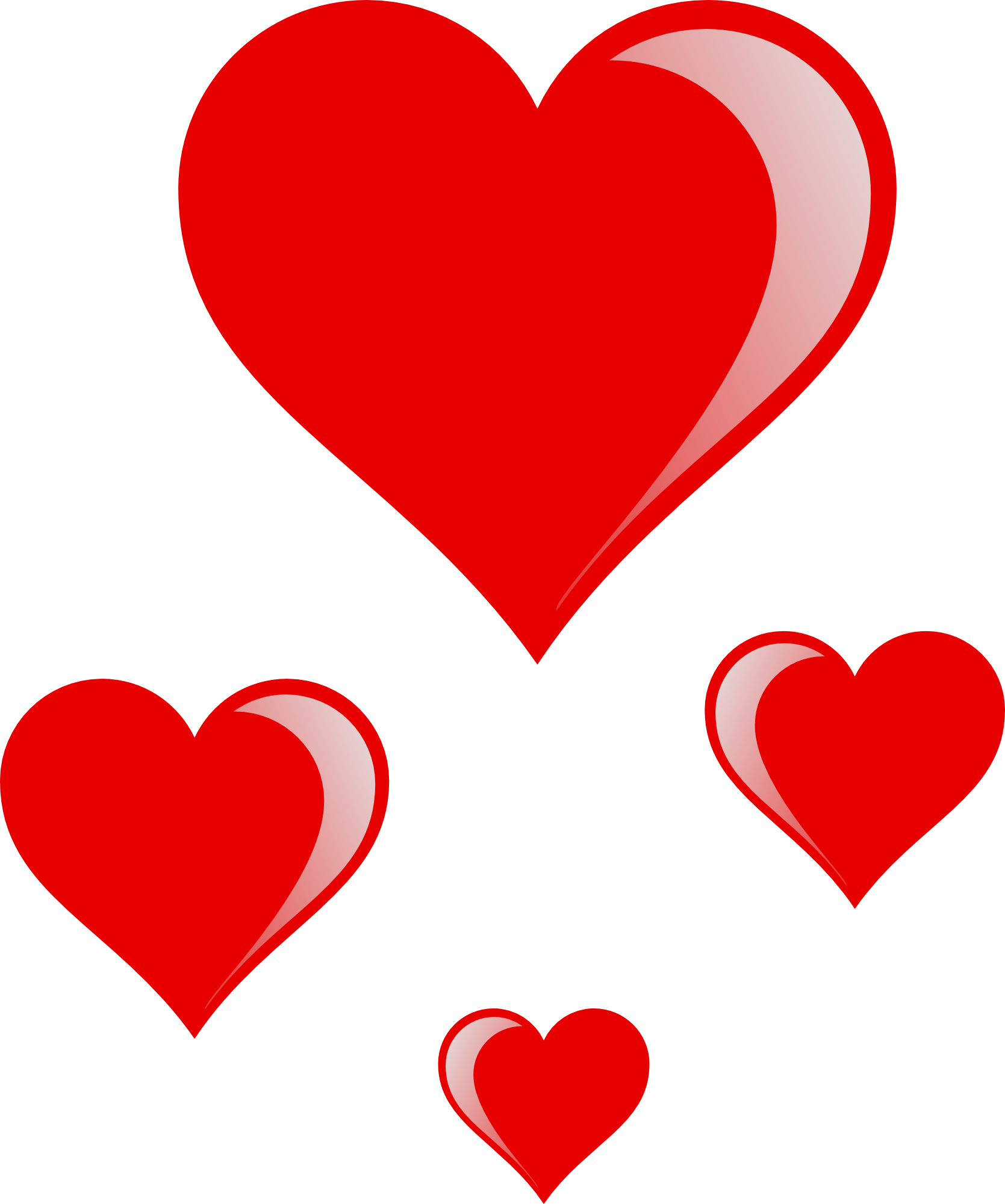 Best Hearts Valentine's Clipart #24619 - Clipartion.com