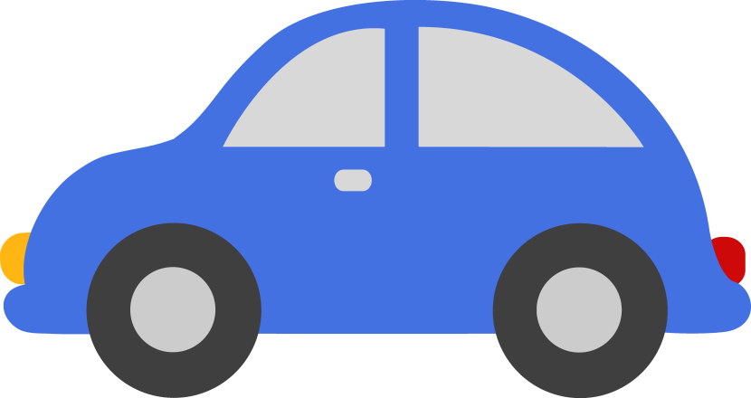 Blue Toy Car Clipart