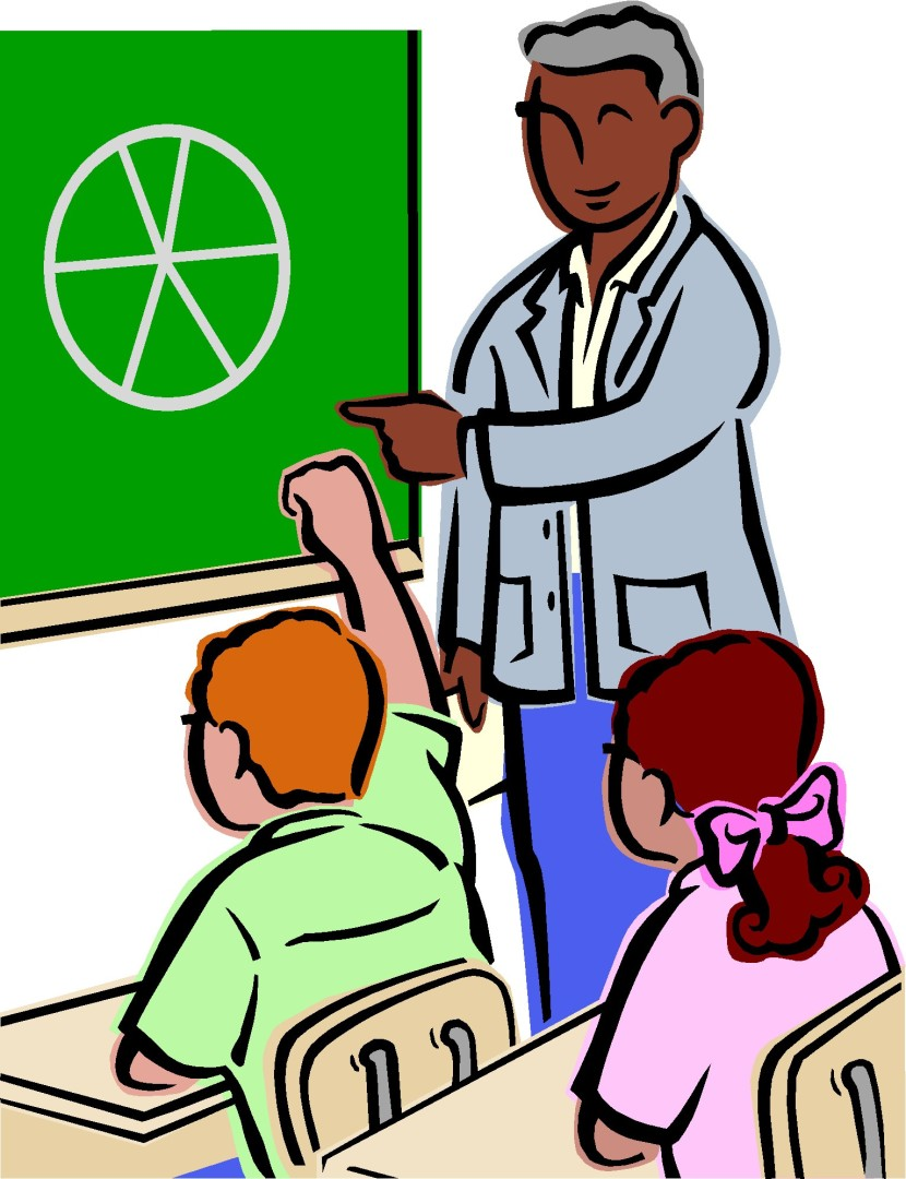 Class Reading Teacher Clipart