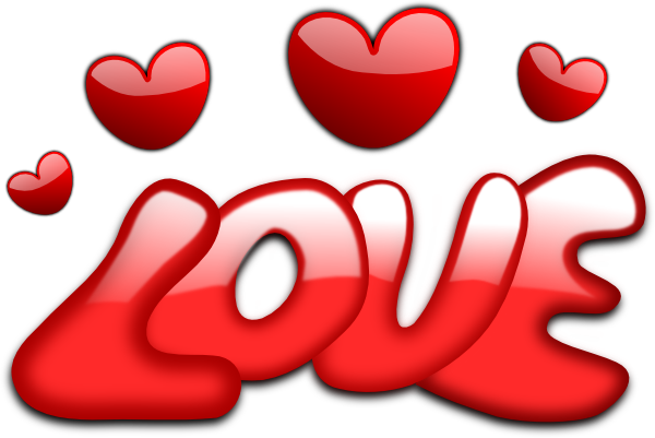 Love Art Image The Word Love Clipart