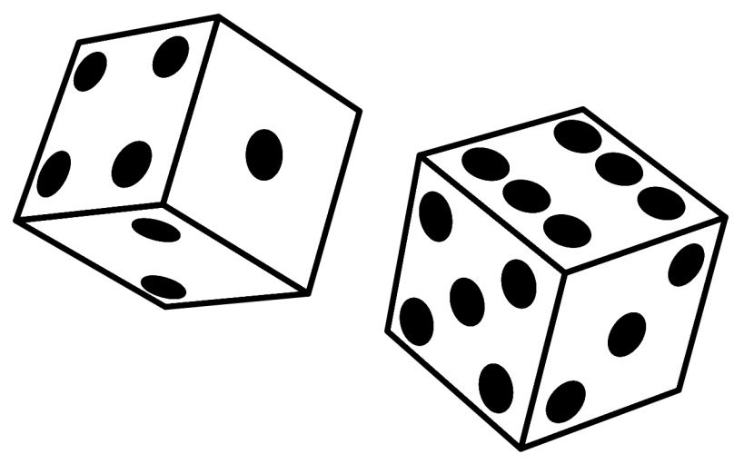 Math Game Clipart Black and White