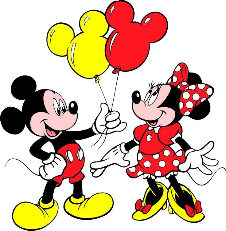 Mickey and Minnie Disney World Clipart