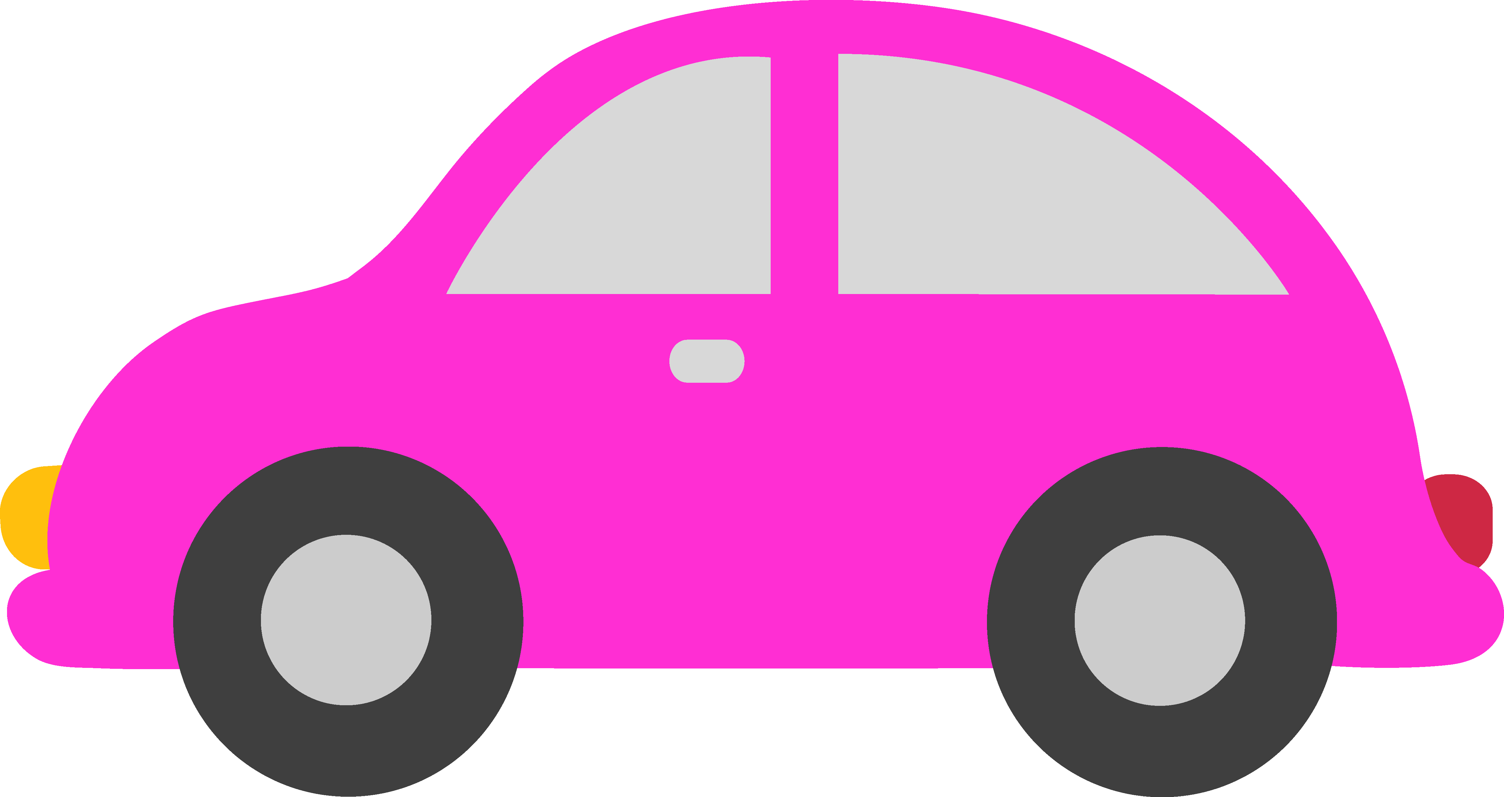 Pink Toy Car Clipart