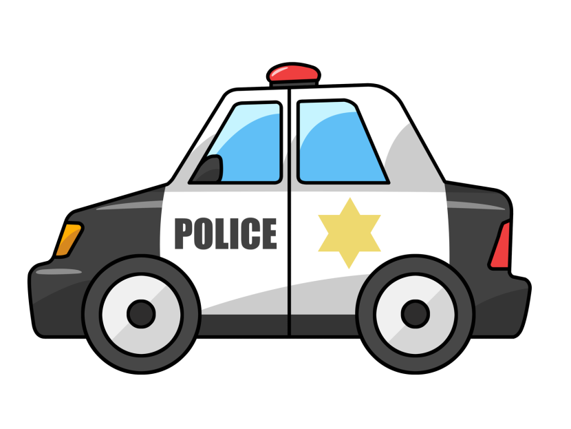 Police Car Clipart Black And White