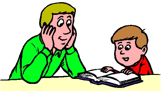 Reading Man Teacher Clipart