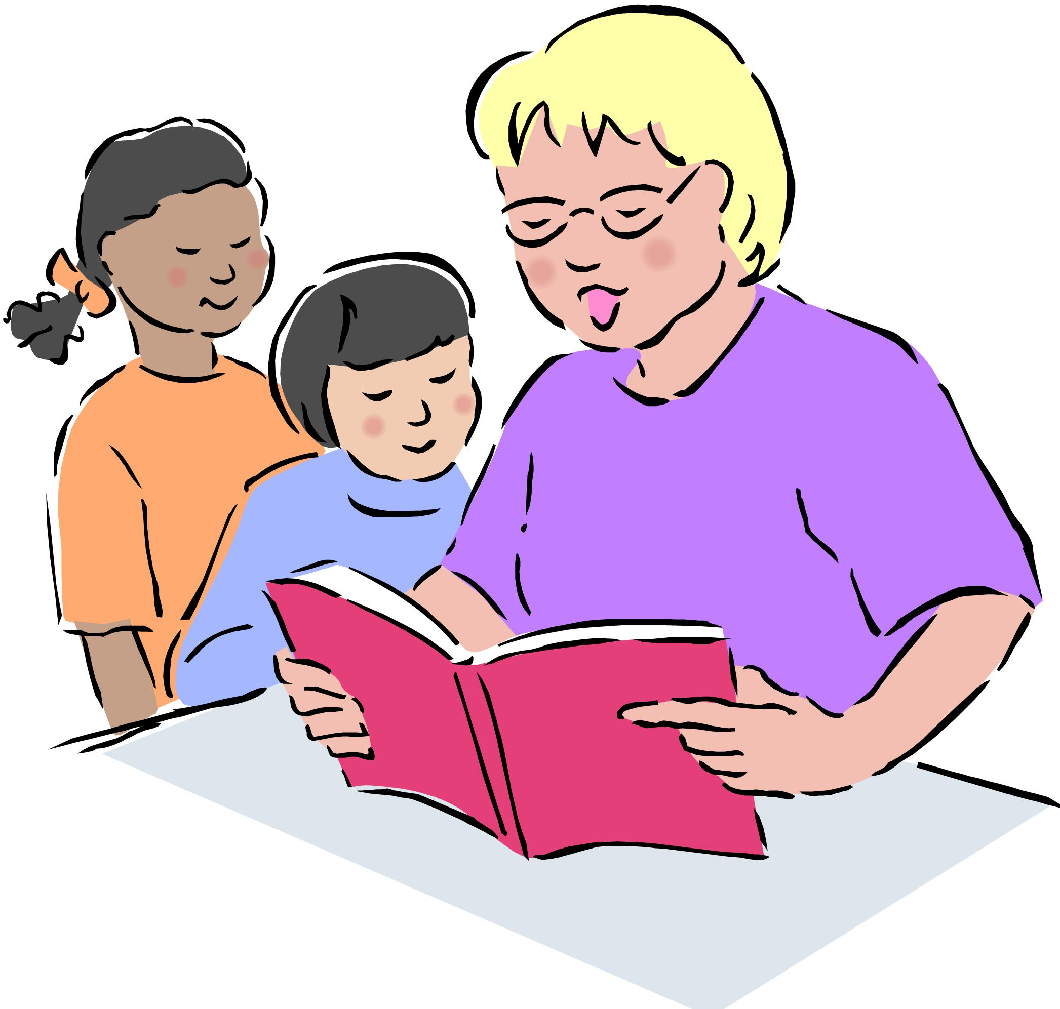 Teacher And Student Reading Clip Art
