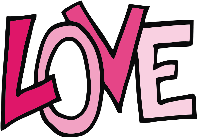 The Word Love Clipart Free