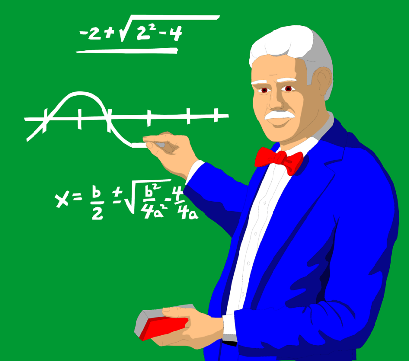 Vector of Math Teacher Clipart