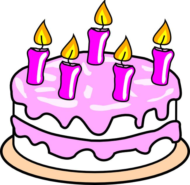 8th Birthday Cake Happy Birthday Clipart