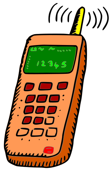 Analogue Mobile Phone Clipart Vector Online