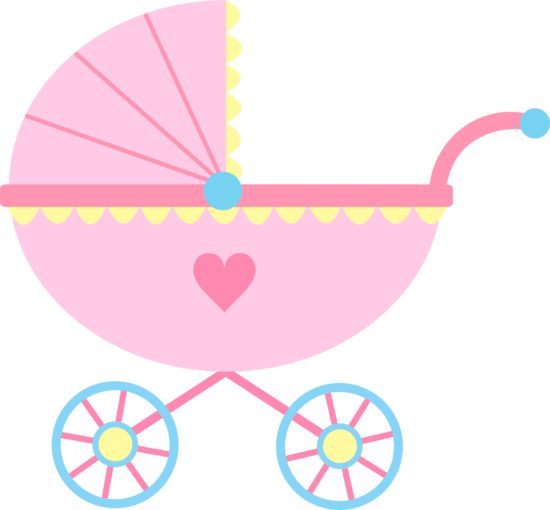Baby Clipart Girl Cute Pink Baby Carriage Free