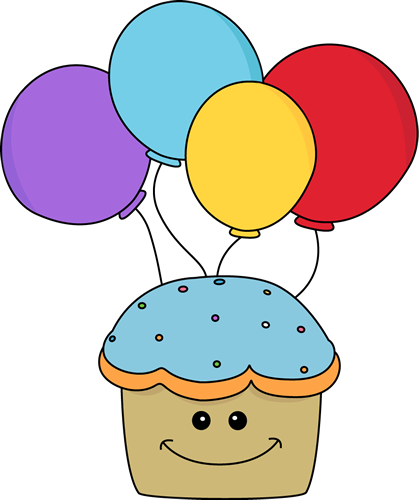 Best Birthday Cupcake Clipart 1 Cupcake And Balloons