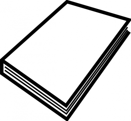 Best Book Free Closed Book Clipart Black And White