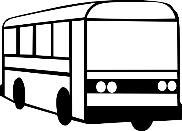 Best Bus Clipart Black And White