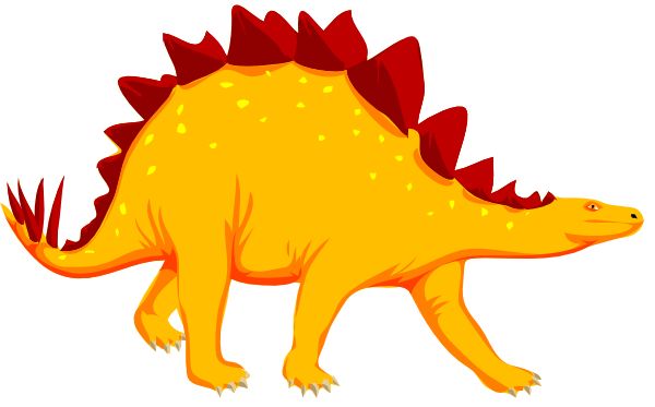 Best Dinosaur Clipart Orange Dinosaur At Vector