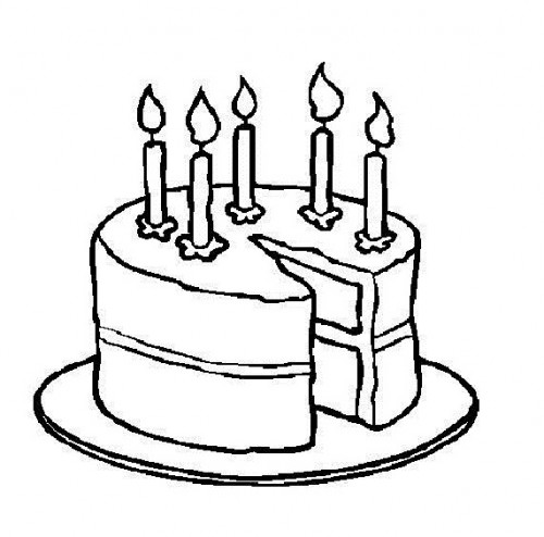 Birthday Clipart Black and White