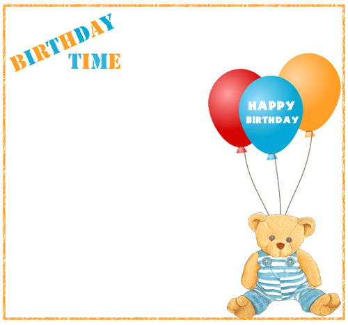 Birthday Party Borders Free