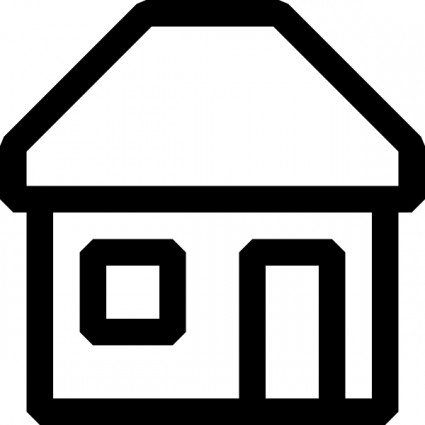 Black And White House Icon Free Vector Download