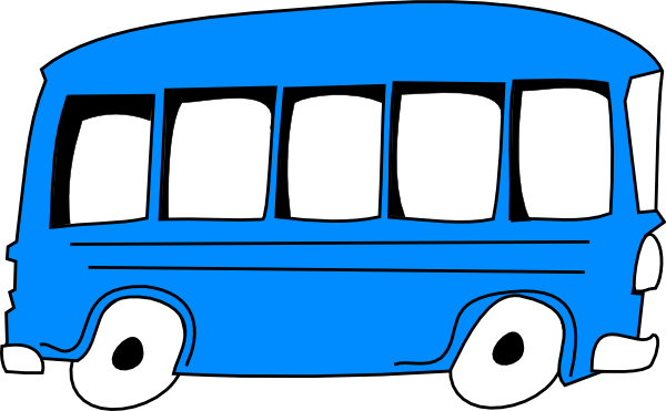 Blue Bus At Vector