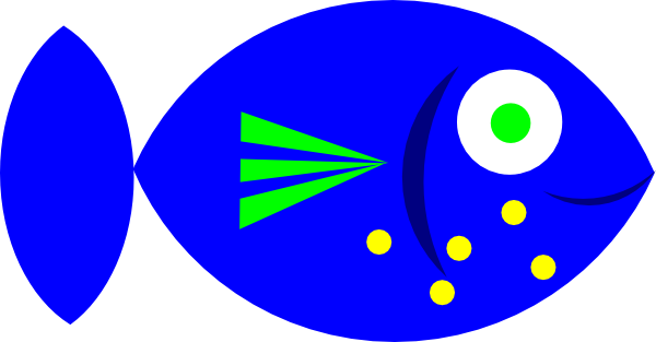 Blue Fish At Vector Online