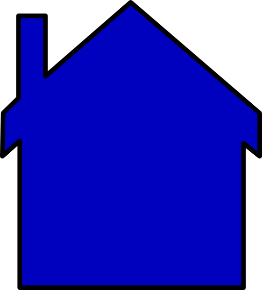 Blue House At Vector Online