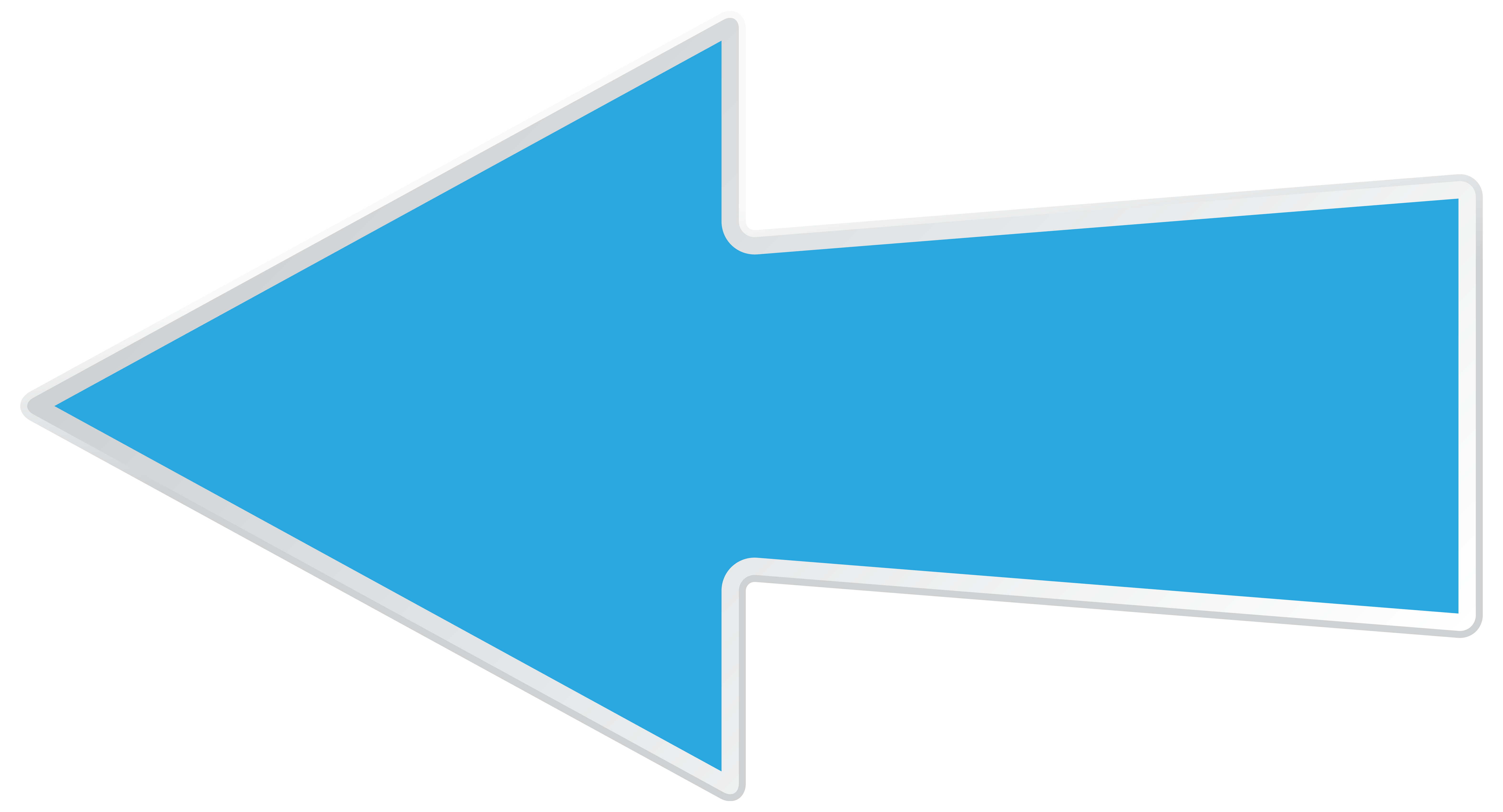 Blue Left Arrow Transparent Png Image