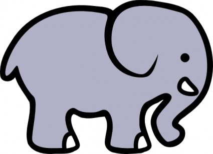 Cartoon Elephant Free Vector In Open Office Drawing