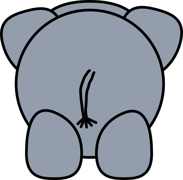 Cartoon Elephant Outline