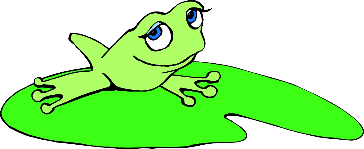 Best Frog on Lily Pad Clipart #27901 - Clipartion.com