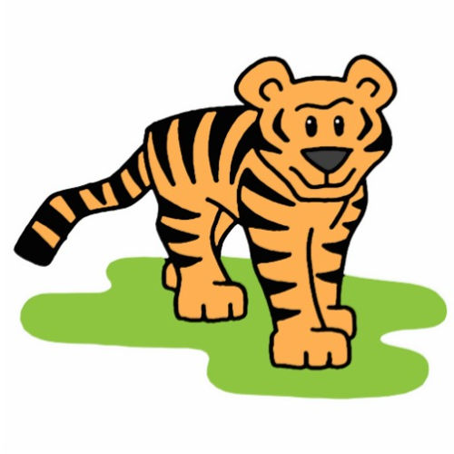 Cartoon Tigers At Vector Online