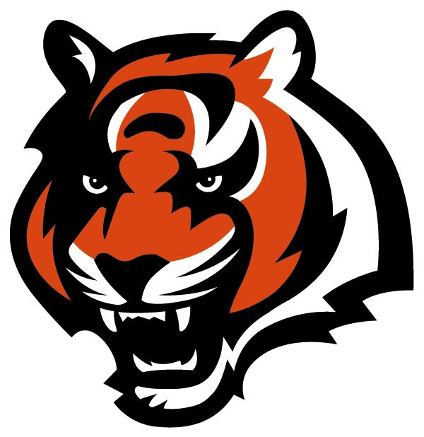 Cincinnati Bengals Football Team Logo Graphic Bengal Tiger Head