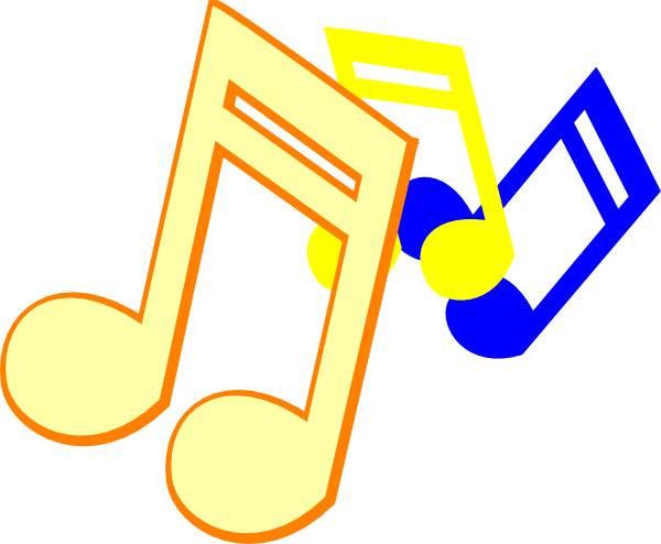 Colorful Music Note Border Free Clipart