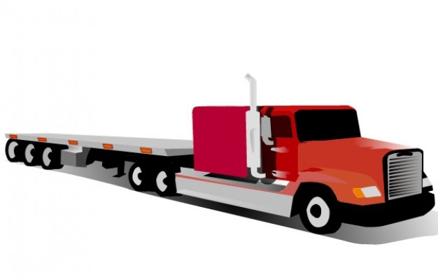 Container Truck Vector Free Download