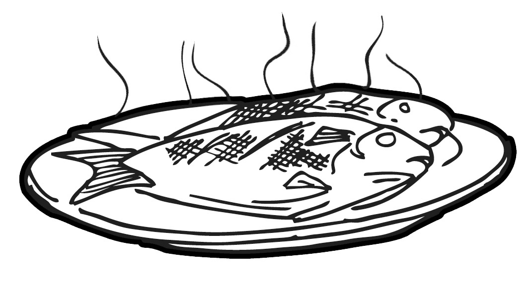 Fish cooked. Best clipart clipartion com