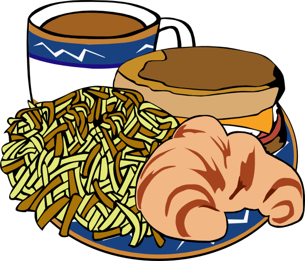 Crepes For Breakfast Free Clipart Illustration