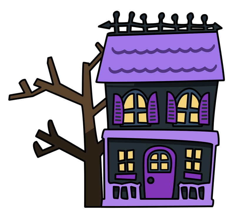 Cute Haunted House Clipart Free