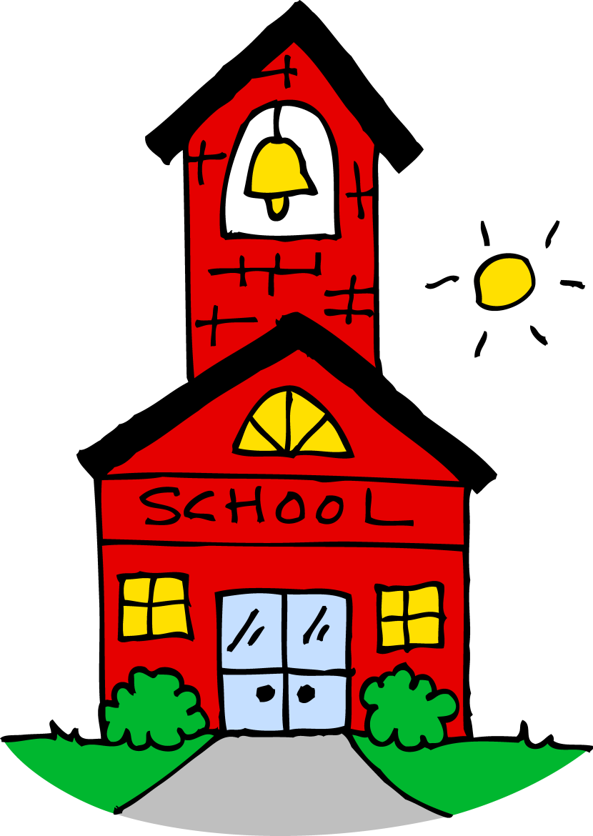 Cute School House Clipart Free