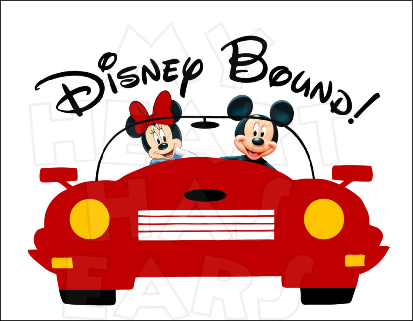 Disney Bound Mickey And Minnie In Car Instant Download Digital