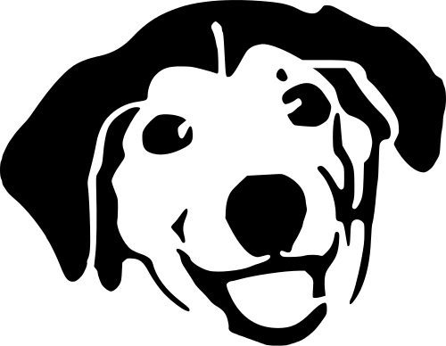 Dog Face Black And White Free Clipart