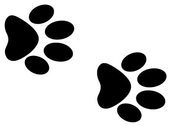 Dog Paw Print Stamps Dog Dog Paw Prints Dog
