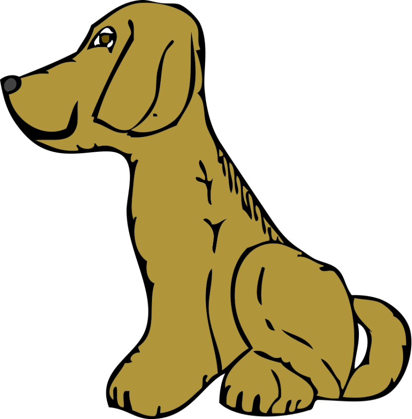 Dog Side View Clipart Vector Online Free Design