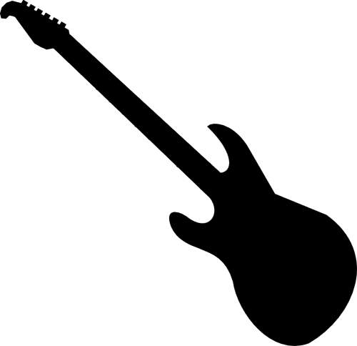 Electric Guitar Clipart Black And White Free