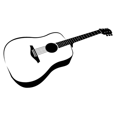 Electric Guitar Line Art Free