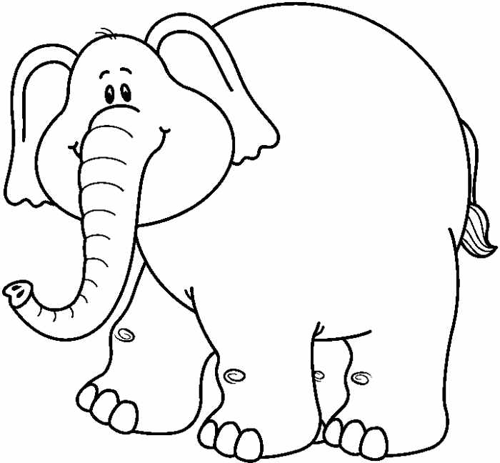 Elephant Black And White Free Clipart