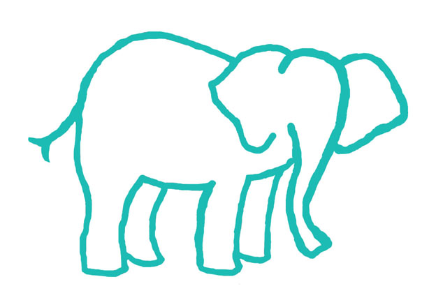 Elephant Clipart Outline