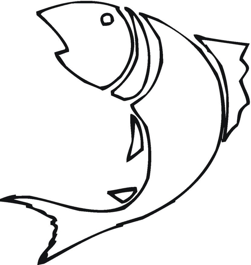 Fish Clipart Black And White