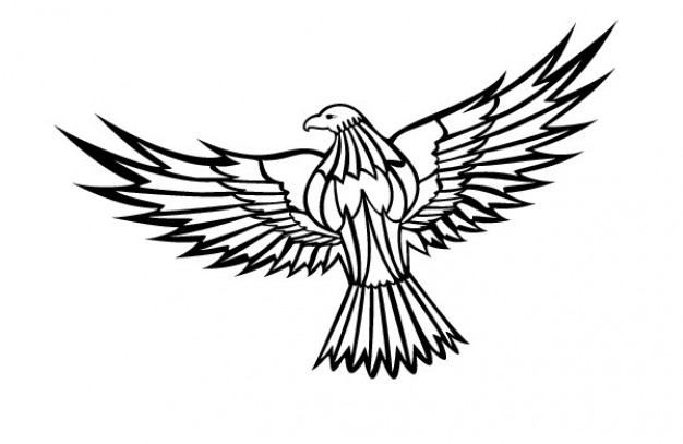 Flying Eagle Clipart Vector Free Download