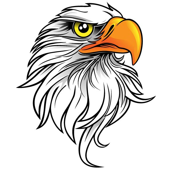 Free Eagle Head Vector Art Beading