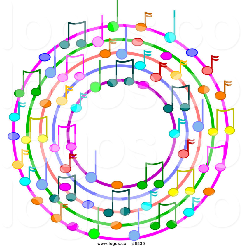 Free Vector Logo Of A Wreath Of Colorful Music